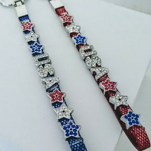 Patriotic⭐ Handmade 💎 BLING 💎 Keychains (1-pc)